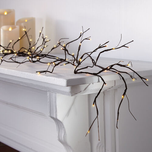 Pre-Lit Willow Branch Garland